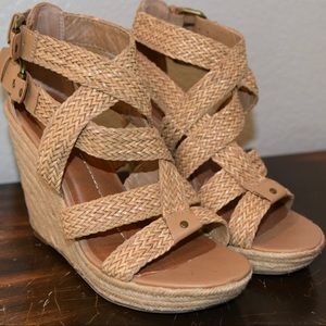 Dolce Vita 8.5 espadrille wedge sandals